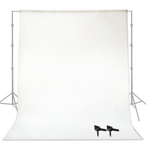 9ft. White Seamless Backdrop