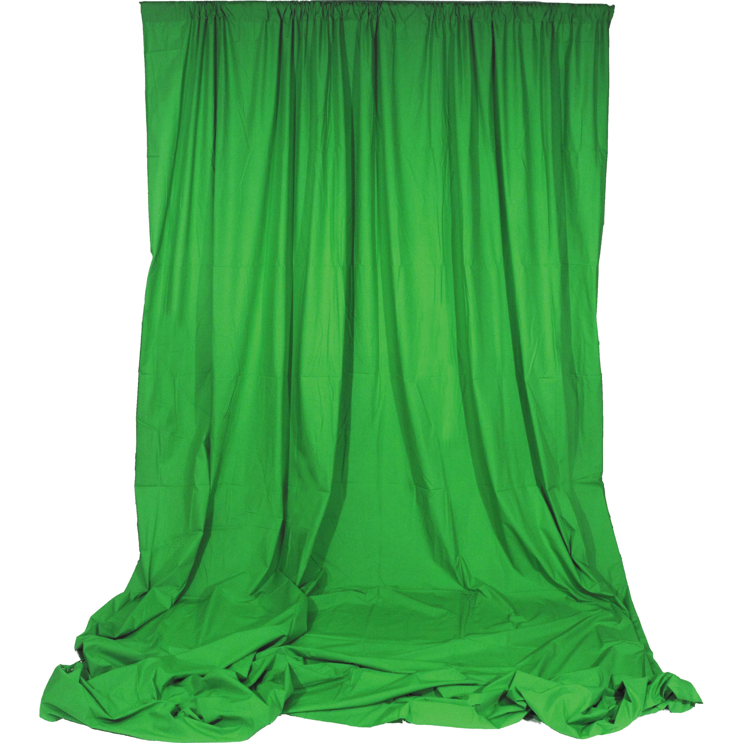 10 X 10 Angler Green Chroma Key Muslin Fabric